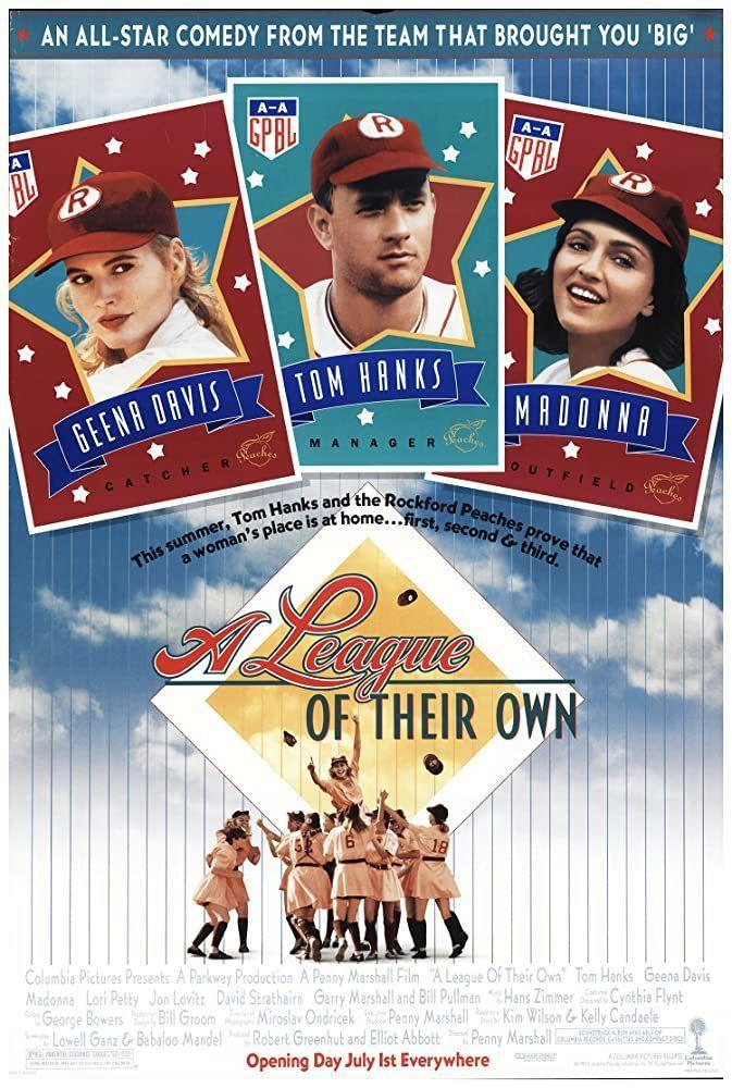 """<p>Is this the best sports movie of all time? I'd go up to bat for it. A story based on the All-American Girls Professional Baseball League of 1943 to 1954, sisters Dottie (Geena Davis) and Kit (Lori Petty) are coached by no-crying-in-baseball Jimmy Dugan (Tom Hanks).</p><p><a class=""""link rapid-noclick-resp"""" href=""""https://www.amazon.com/League-Their-Own-Tom-Hanks/dp/B00190KZVY?tag=syn-yahoo-20&ascsubtag=%5Bartid%7C10063.g.36572054%5Bsrc%7Cyahoo-us"""" rel=""""nofollow noopener"""" target=""""_blank"""" data-ylk=""""slk:Watch Here"""">Watch Here</a></p>"""