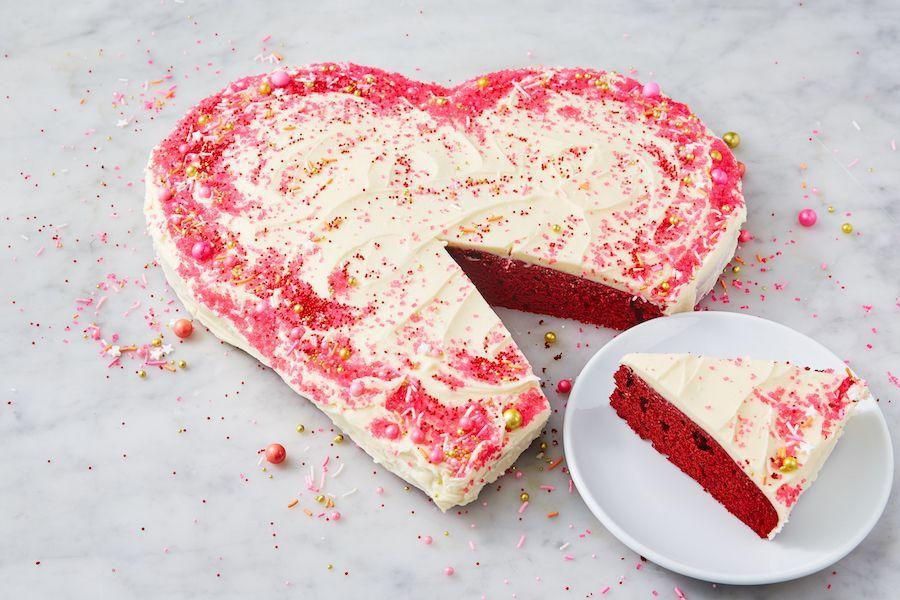 "<p>It doesn't get much more festive than this...</p><p>Get the recipe from <a href=""https://www.delish.com/cooking/recipe-ideas/a25846375/heart-shaped-cake-recipe/"" rel=""nofollow noopener"" target=""_blank"" data-ylk=""slk:Delish"" class=""link rapid-noclick-resp"">Delish</a>.</p>"