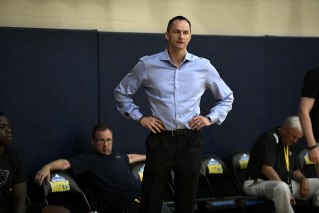 Denver Nuggets general manager Arturas Karnisovas is the leader in the clubhouse for Chicago's head of basketball operations. (Helen H. Richardson/The Denver Post via Getty Images)