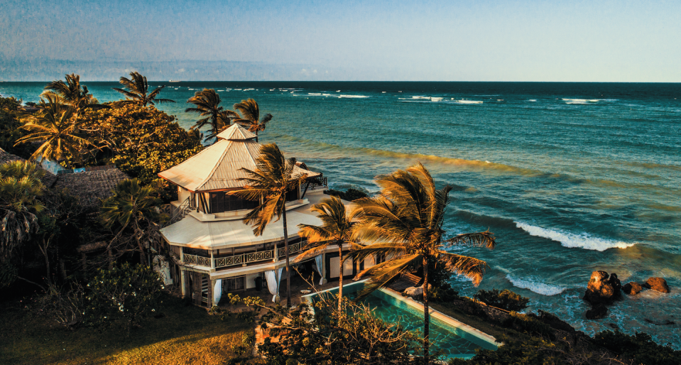 """<p>Far less trafficked than the neighboring Seychelles, one of the most awe-inspiring settings in the world is the inimitable and utterly fabulous <a href=""""http://www.alfajirivillas.com/"""" rel=""""nofollow noopener"""" target=""""_blank"""" data-ylk=""""slk:Alfajiri Villas"""" class=""""link rapid-noclick-resp"""">Alfajiri Villas</a> on Diani Beach in the Kenyan Coast. Just a short flight from Nairobi lay 3 of the most luxurious and well-appointed villas the world over, each with their own charm. Privacy isn't a privilege but assumed here, as the properties can be separated or booked together, but no matter how large your tour group, you're in for one of the best views in the world. </p><p>The Cliff Villa's master bedroom has, arguably, the best view on the property of the vast ocean expanse, but all properties are perched in a setting that will inspire. Everything at Alfajiri is built to put you at ease, including a daily massage in dedicated areas where you can feel the sea breeze come through as your troubles melt away. The food here is out of this world and includes fresh lobster, lumps of white crab meat salad and delicious, perfectly cooked Arrabiata pasta (owner Marika and her husband Fabrizio have expertly trained local chefs to prepare it perfectly). </p><p>Genteel, barefoot luxury reigns supreme here, where charming white coated butlers are on hand at all times to make your stay special. The perfect place for a honeymoon, family gathering or even group of friends, Alfajiri Villas' position overlooking the Indian Ocean is as dramatic as it is an unconventional choice; this 'in the know' element is part of its breezy charm–it seems Brad and Angelina had the right idea when they chose this as their honeymoon destination.</p>"""