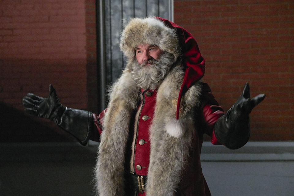 """<p>A brother and sister go on a crazy adventure when they catch Santa (Kurt Russell) on video tape. </p> <p>Watch <a href=""""https://www.netflix.com/title/80199682"""" class=""""link rapid-noclick-resp"""" rel=""""nofollow noopener"""" target=""""_blank"""" data-ylk=""""slk:The Christmas Chronicles""""><strong>The Christmas Chronicles</strong></a> on Netflix now.</p>"""