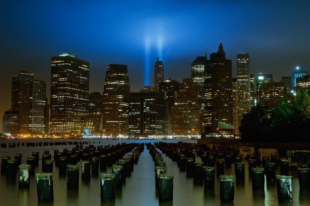 "9/11/11 Tribute in Lights<br><br>By <a target=""_blank"">Tom Reese</a>, Copyright © 2011<br>"