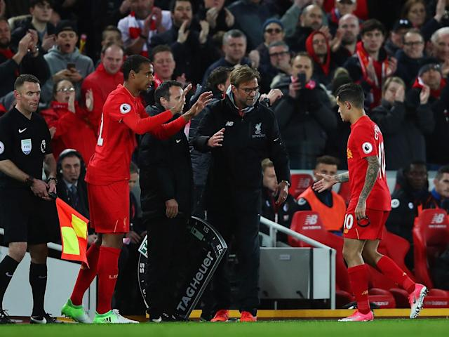 Jürgen Klopp reveals Philippe Coutinho had to be substituted due to illness during 2-2 Bournemouth draw