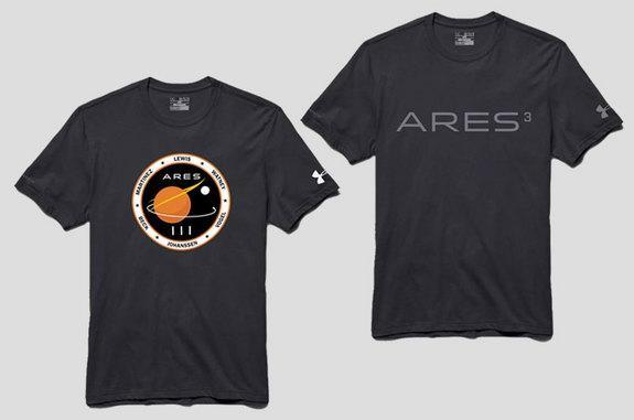 """Sports outfitter Under Armour is now selling """"mission gear"""" from """"The Martian,"""" including t-shirts like the above."""