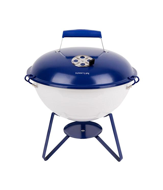 "<p>Portable Barbecue Navy & White, $55, <a href=""https://www.sunnylife.com/collections/bbq/products/portable-barbecue-navy-white"" rel=""nofollow noopener"" target=""_blank"" data-ylk=""slk:sunnylife.com"" class=""link rapid-noclick-resp"">sunnylife.com</a> </p>"
