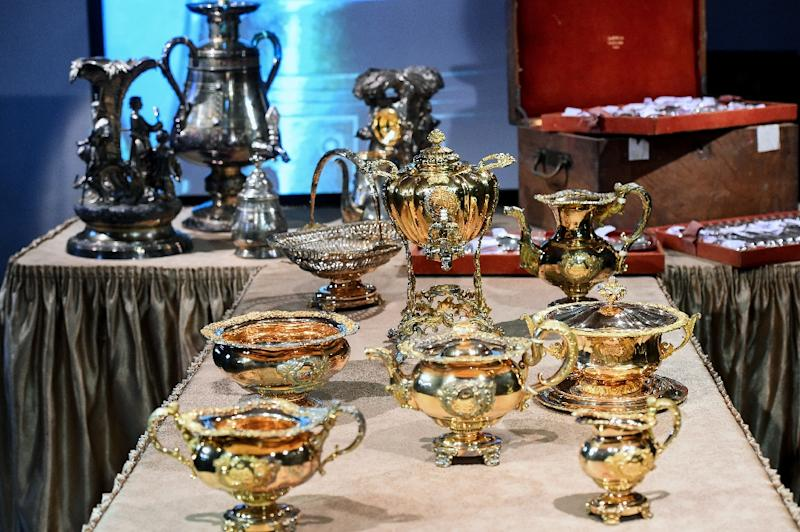 The treasures on display in Saint Petersburg once belonged to the Narshykin aristocratic family (AFP Photo/OLGA MALTSEVA)