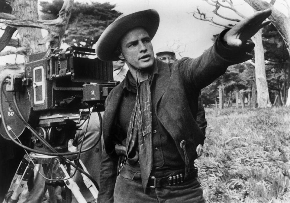 """<p>Marlon Brando's directorial debut — and the only film he would step behind the scenes for — was in 1961. The actor directed the Western film <em>One-Eyed Jacks,</em> which was <a href=""""https://www.rottentomatoes.com/m/one_eyed_jacks"""" rel=""""nofollow noopener"""" target=""""_blank"""" data-ylk=""""slk:met with mixed reviews"""" class=""""link rapid-noclick-resp"""">met with mixed reviews</a>.</p>"""