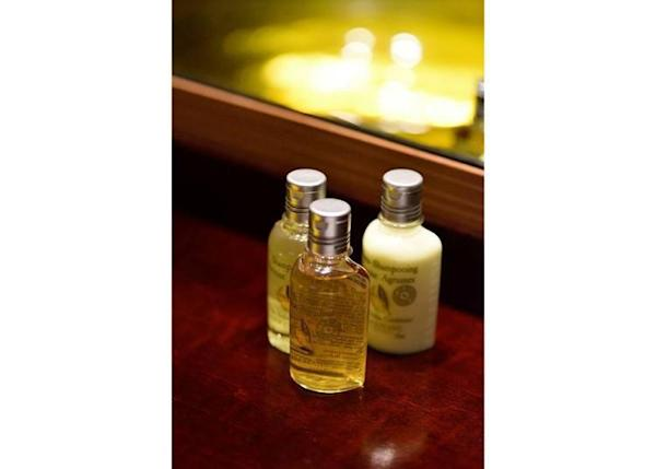 ▲Shampoo, conditioner, and other toiletries provided by L'Occitane.