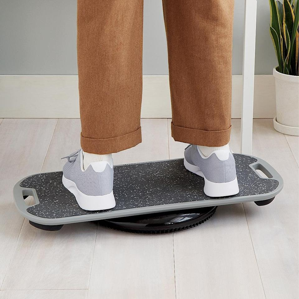 <p>Working from home can be stressful, encourage some activity with the <span>Standing Desk Balance Board</span> ($150).</p>