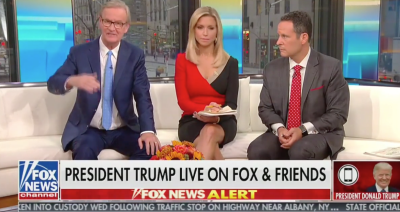 """Fox & Friends"" hosts (from left) Steve Doocy, Ainsley Earhardt and Brian Kilmeade spoke with President Donald Trump on Oct. 11 about Khashoggi and U.S.-Saudi relations."