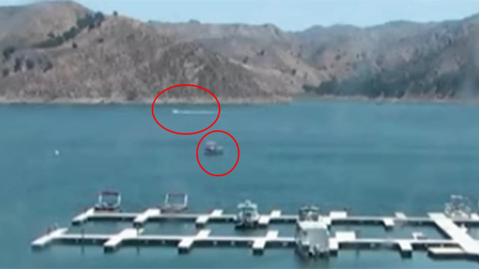 A jet ski driver on the far side of the lake could be a potential witness fans argue. Photo: Ventura County Sheriff's Office