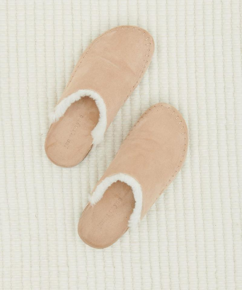 """The perfect at-home footwear for <a href=""""https://people.com/tag/christmas/"""">Christmas Day</a>.  <strong>Buy It!</strong> Jenni Kayne Suede Moccasin Clogs ($345), <a href=""""https://www.jennikayne.com/category/shoes/flats/suede-moc-clog-natural-ivory"""">jennikayne.com</a>"""