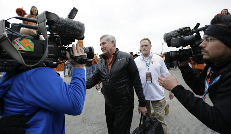 Since he parted ways with Texas, Mack Brown has been working for ESPN. (AP Photo/Eric Gay)
