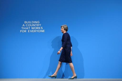 Theresa May beim Parteitag der Tories
