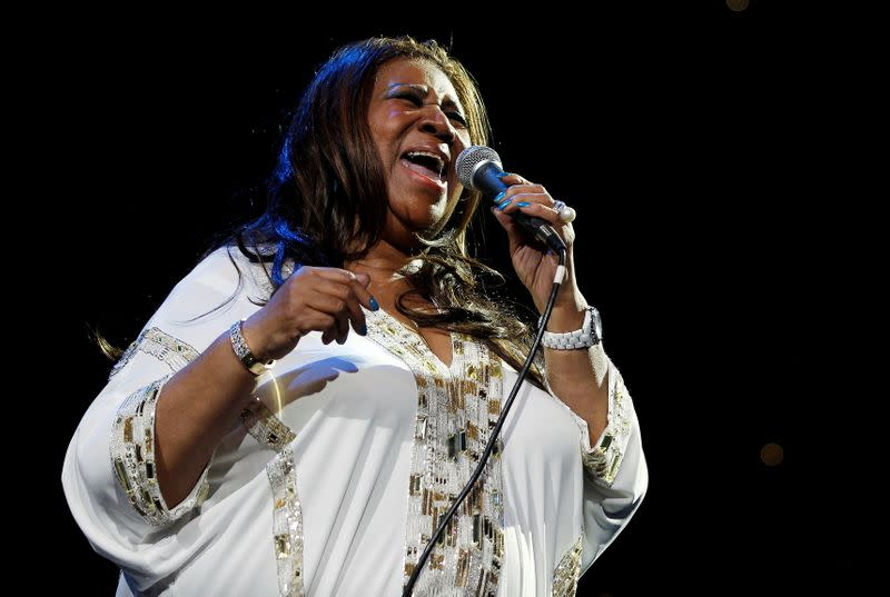 FILE PHOTO: Aretha Franklin performs at Radio City Music Hall in New York