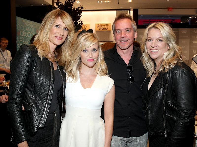 (L-R) Actress Laura Dern, actress Reese Witherspoon, director Jean-Marc Vallee and author Cheryl Strayed at the Toronto International Film Festival on September 8, 2014