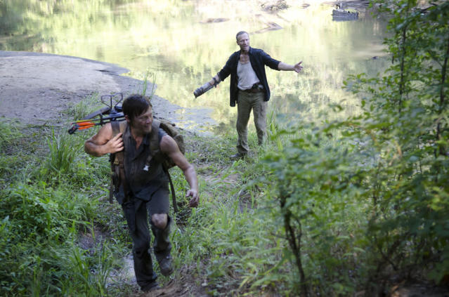"Daryl Dixon (Norman Reedus) and Merle Dixon (Michael Rooker) in ""The Walking Dead"" episode, ""Home."""