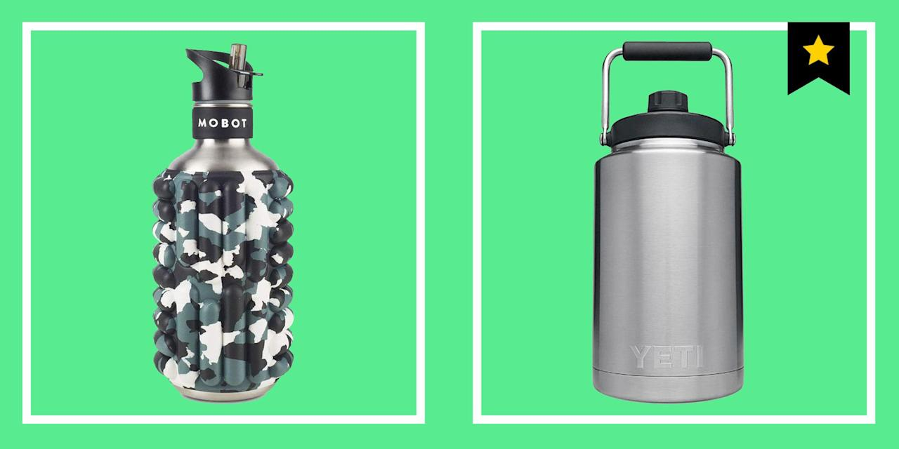 """<p>By now, you have likely been socially shamed out of using plastic, single-use water bottles. That's good! Let's save the planet! (While you're at it, <a href=""""https://www.esquire.com/lifestyle/a29666462/reusable-straw-finalstraw-review-endoresment/"""" target=""""_blank"""">ditch the single-use straws</a>, too.) That means you're in need of a reusable water bottle to keep around the house, throw in your gym bag, and transport to work so that you can stave off thirst. Plus, the experts recommend drinking eight glasses—or about 64 ounces—of water every day. But let us guess: You're getting about four? You can do better, and having that water bottle constantly in your line of vision will help. </p><p>So in the pursuit of a superbly hydrated 2020, here are 15 water bottles (all BPA-free) that we consider to be the best on the market. There's plastic if you don't care whether your water is ice-cold or not while you drink it. Stainless steel if you <em>do </em>care about your water being ice-cold while you drink it, and in fact, you'd prefer the ice cubes that you put in the bottle to stay solid for a few hours, too. Collapsible water bottles for easy transport and filtering water bottles for clean drinking. Many of these companies have made commitments to protecting our planet's water and promoting water security around the world, which is cool, too. Use these water bottles often, as in, every day. Because if you think you're drinking enough water every day, you're wrong. </p>"""