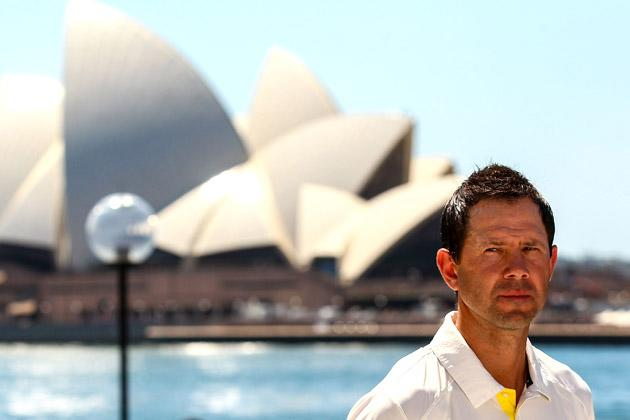 SYDNEY, AUSTRALIA - OCTOBER 15: Ricky Ponting conducts an interview before the Cricket Australia season launch at Museum of Contemporary Art on October 15, 2012 in Sydney, Australia.  (Photo by Mark Nolan/Getty Images)