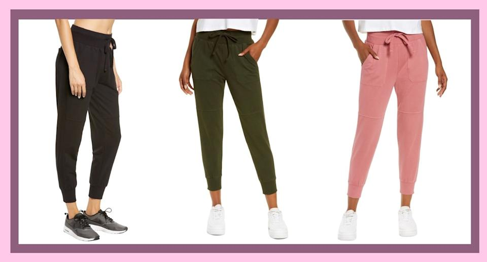 Nordstrom's Zella Washed Organic Ankle Joggers are on-sale for 40% off  (Image via Nordstrom)