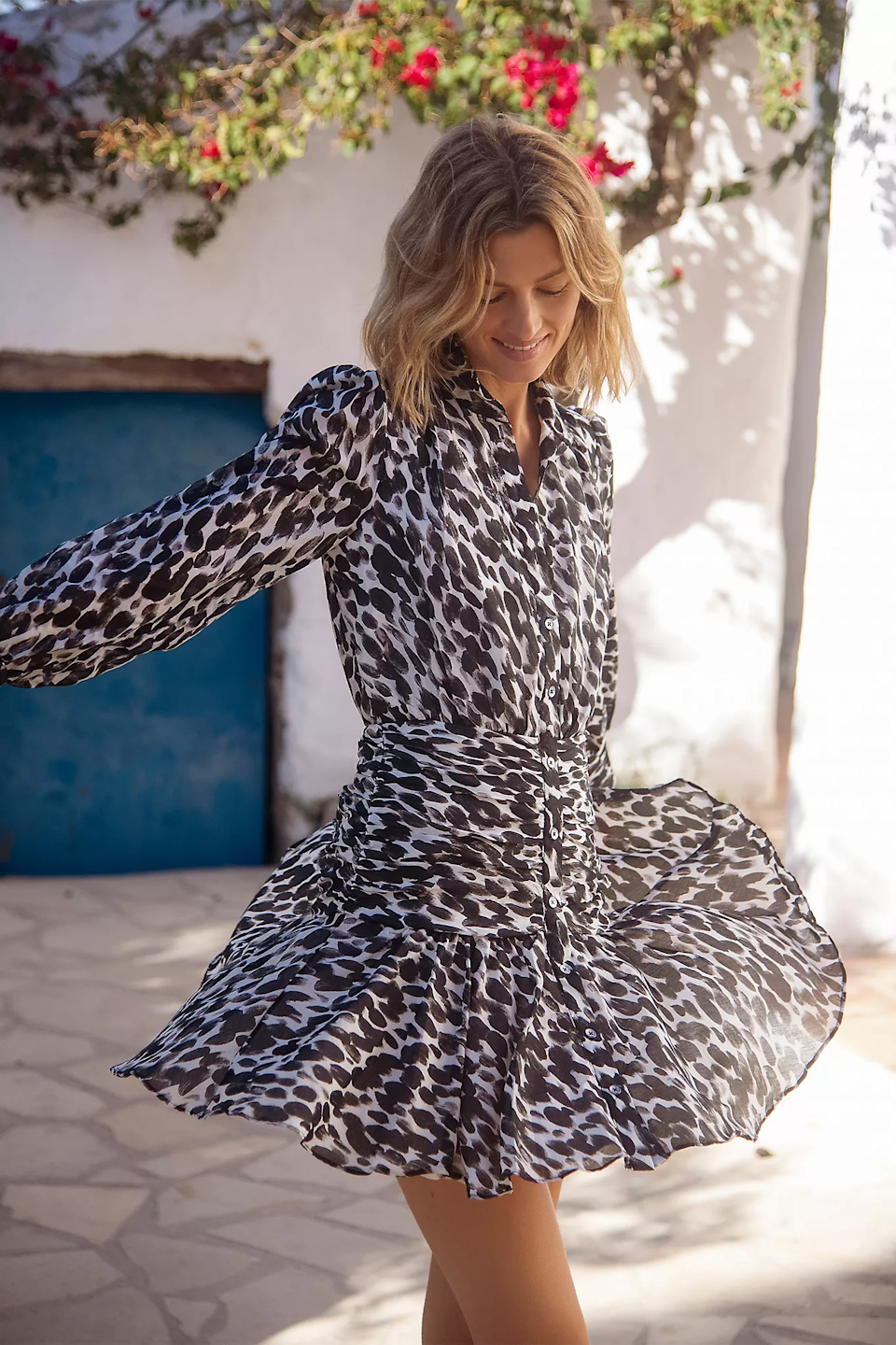 """<h2>Bold Printed Dresses</h2><br>""""Happy dresses are bringing the optimism for 2021! Bold prints with accentuated waists get us ready to jump into the new year."""" <br><br>– Anu Narayanan, Chief Merchandising Officer, Anthropologie Group<br><br><strong>Maeve</strong> Semele Leopard Mini Dress, $, available at <a href=""""https://go.skimresources.com/?id=30283X879131&url=https%3A%2F%2Fwww.anthropologie.com%2Fshop%2Fsemele-leopard-mini-dress%3Fcategory%3Ddresses%26color%3D018%26type%3DSTANDARD%26quantity%3D1"""" rel=""""nofollow noopener"""" target=""""_blank"""" data-ylk=""""slk:Anthropologie"""" class=""""link rapid-noclick-resp"""">Anthropologie</a>"""
