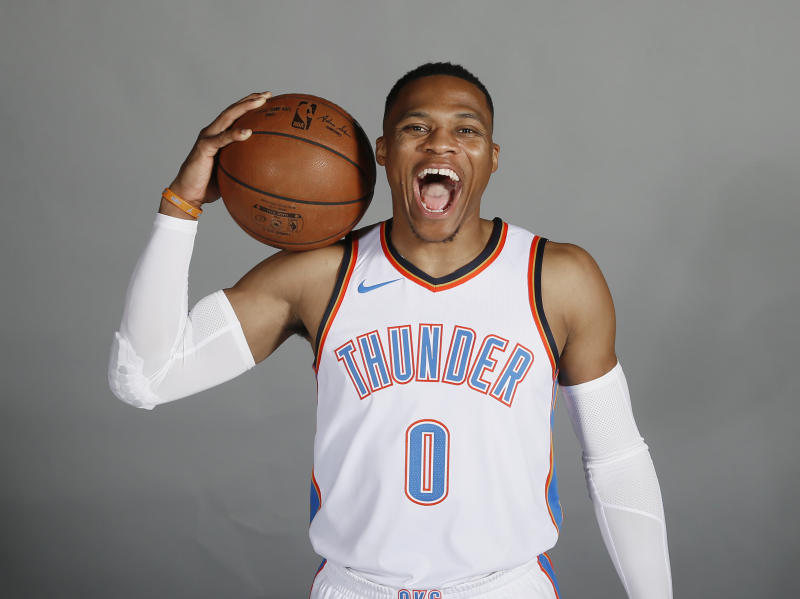 2d469e862ed3 Russell Westbrook agrees to NBA s richest contract on Kevin Durant s  birthday