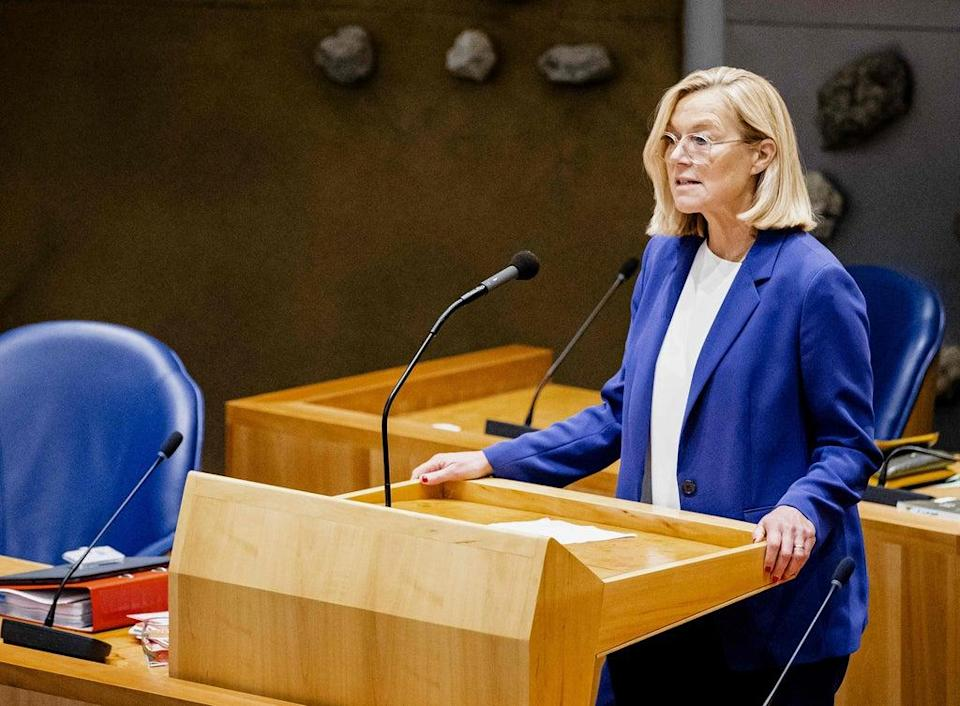 Sigrid Kaag speaks at the House of Representatives in the Hague, on September 16 (ANP/AFP via Getty Images)