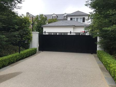 The Brentwood home of NBA player LeBron James is seen in Los Angeles, California