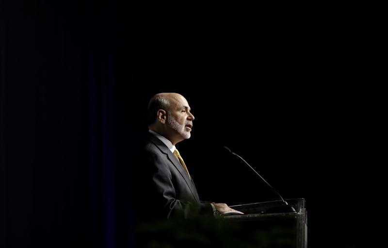 Federal Reserve Chairman Ben Bernanke offers the keynote speech at the Operation HOPE Global Financial Dignity Summit Thursday, Nov. 15, 2012, in Atlanta. Bernanke said Thursday that banks' overly tight lending standards may be holding back the U.S. economy by preventing creditworthy borrowers from buying homes. (AP Photo/David Goldman)