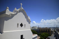 The San Jose Church stands in San Juan, Puerto Rico, Tuesday, March 9, 2021. The second oldest Spanish church in the Americas is reopening following a massive reconstruction that took nearly two decades to complete. (AP Photo/Carlos Giusti)