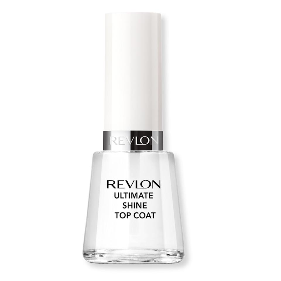 """<p>This classic drugstore formula will run you less than $10 for a thicker coating of, yes, ultimate shine. As one reviewer wrote, """"It's so shiny it still looks wet. Very impressed.""""</p> <p>$7 (<a href=""""https://shop-links.co/1681181097949757442"""" rel=""""nofollow"""">Shop Now</a>)</p>"""