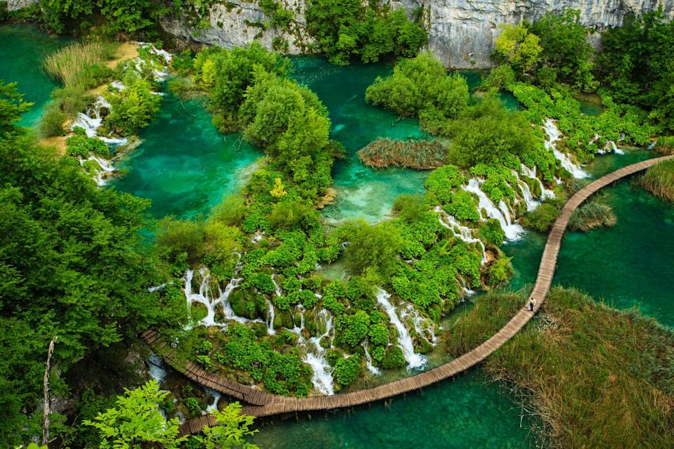 <p>The oldest park in Southeast Europe and the largest national park in Croatia, Plitvice Lakes National Park is known for its cascading lakes. The lakes dazzle with their vast array of beautiful colors, which range from green to blue. </p>