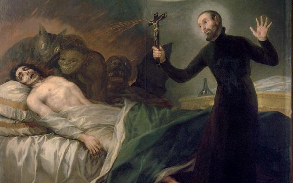 Francisco Goya's 1795 paintingSt. Francis Borgia Helping a Dying Impenitent - www.alamy.com