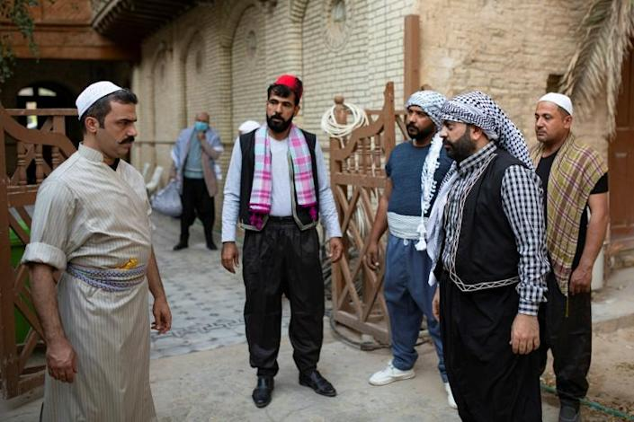The 'Bab al-Hara' parody skits are meant to raise public awareness of protective measures individuals can take to combat the novel coronavirus pandemic (AFP Photo/Hussein FALEH)