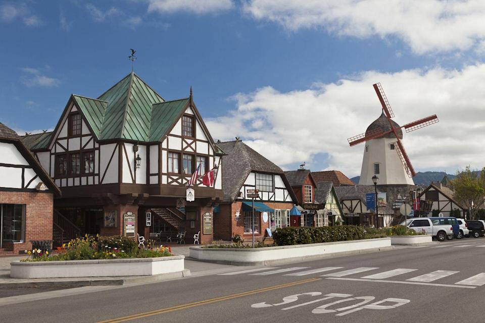 <p>California or the Netherlands? Solvang, California celebrates its Danish heritage with windmills and fun architecture. </p>