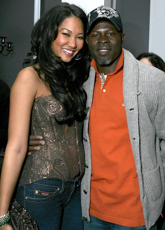 "Kimora Lee Simmons and Oscar-nominee Djimon Hounsou make an attractive twosome. Alexandra Wyman/<a href=""http://www.wireimage.com"" target=""new"">WireImage.com</a> - February 27, 2007"