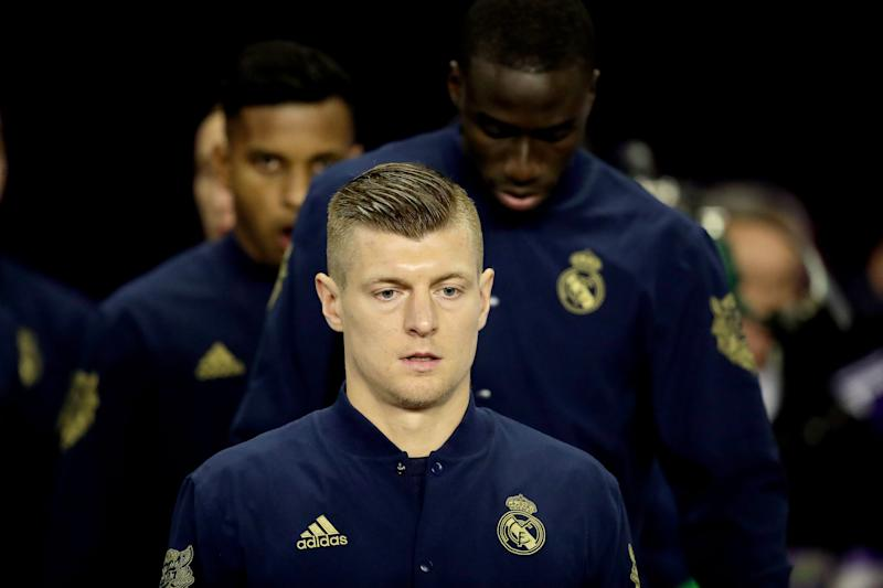 VALLADOLID, SPAIN - JANUARY 26: Toni Kroos of Real Madrid during the La Liga Santander match between Real Valladolid v Real Madrid at the Stadium Jose Zorrilla on January 26, 2020 in Valladolid Spain (Photo by David S. Bustamante/Soccrates/Getty Images)