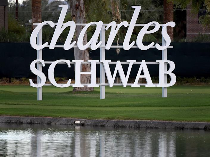 A sign is shown during the final round of the Charles Schwab Cup Championship at the Phoenix Country Club on November 08, 2020. (Getty Images)