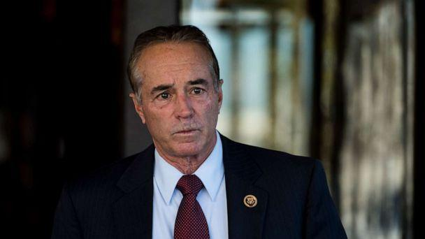 PHOTO: URep. Chris Collins leaves the House Republican Conference meeting at the Capitol Hill Club on Nov. 3, 2015. (Bill Clark/CQ-Roll Call, Inc via Getty Images)