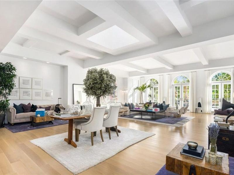 The living room in Jennifer Lopez's Manhattan penthouse.