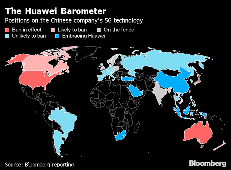 "(Bloomberg) -- Over the past two decades, China's Huawei Technologies Co. has come to dominate the global telecom equipment market, winning contracts with a mix of sophisticated technology and attractive prices. Its rise squeezed Europe's Nokia Oyj and Ericsson AB, which responded by cutting jobs and making acquisitions. Now, with Huawei at the center of a U.S.-China trade war, the tide is turning.Nokia and Ericsson—fierce rivals themselves—have recently wrested notable long-term deals from Huawei to build 5G wireless networks, to enable everything from autonomous cars to robot surgery. Analysts say more could come their way as Huawei grapples with a U.S. export ban and restrictions from other governments concerned that its equipment could enable Chinese espionage.""Huawei will, for the foreseeable future, face a broader cloud of suspicion,"" said John Butler, an analyst at Bloomberg Intelligence in New York. ""Nokia and Ericsson are well positioned to benefit.""In May, the European companies both won 5G contracts from SoftBank Group Corp.'s Japanese telecom unit, replacing Huawei and Chinese peer ZTE Corp. Ericsson signed a similar pact in March with Denmark's biggest phone company, TDC A/S, which had worked with Huawei since 2013 to modernize and manage its network.Other carriers, expecting government curbs on Huawei, have started removing its equipment from sensitive parts of their systems. BT Group Plc is taking Huawei out of its network core, and Vodafone Group Plc has suspended core equipment purchases from Huawei for its European networks. Deutsche Telekom AG, which has Huawei throughout its 4G system, is re-evaluating its purchasing strategy.Nokia and Ericsson are Europe's final survivors of a merciless winnowing of more than a half-dozen telecom equipment providersAs dozens of phone companies—including those in Canada, Germany and France—plan to choose 5G suppliers in the coming months, Cisco Systems Inc. and Samsung Electronics Co. are also vying for deals. But the key beneficiaries of Huawei's difficulties are likely to be the two Europeans, which compete directly with the Chinese company in supplying radio-access network equipment.Since last year, the Trump administration has pushed allies to bar Huawei from 5G, citing risks about state spying—allegations the company has denied. The move in May to block Huawei's access to U.S. suppliers escalated the campaign. The company's founder, Ren Zhengfei, now predicts the U.S. sanctions will cut its revenue by $30 billion over the coming two years.Outside the U.S., security concerns have led Australia, Japan and Taiwan to bar Huawei from 5G systems. The Chinese company also risks losing meaningful work in Europe and emerging markets where countries could follow with their own limits, according to Bloomberg Intelligence.Publicly, executives from Nokia and Ericsson have been careful not to come off as critical of Huawei. Both manufacture in China and sell gear to Chinese phone carriers, and Nokia has a big research and development presence there. Nokia says it has already been forced to shift some of its supply chain away from China to reduce the impact of tariffs imposed by the Trump administration.QuicktakeHow Huawei Became a Target for GovernmentsInstead of piling on Huawei, the European carriers have trumpeted their 5G successes, each using slightly different metrics. Ericsson claims it has the most publicly announced 5G contracts—21—while Nokia says it has raked in more commercial 5G deals than any other vendor (42). Huawei says it has signed 46 5G contracts. A spokesman for Huawei declined to comment further about its position relative to rivals.Ericsson is ""first with 5G,"" after building high-speed networks for companies such as AT&T Inc., Swisscom AG in Switzerland and Australia's Telstra Corp., said Chief Technology Officer Erik Ekudden. ""You see that in some markets that we are attracting more customers.""Nokia is winning 5G deals ""quite handsomely,"" Chief Executive Officer Rajeev Suri told Bloomberg TV on June 10.While Suri said more carriers are likely to swap out Huawei gear in countries that have announced restrictions, the situation is less clear in Europe. ""We don't know yet the impact of specific operator plans,"" he said in an interview. ""We also don't know where this geopolitical thing will end up.""Nokia and Ericsson are Europe's final survivors of a merciless winnowing of more than a half-dozen telecom equipment providers. Bloated costs, a cyclical marketplace, cash-strapped customers, and the relentless rise of Huawei—aided by access to generous Chinese state financing—helped push the likes of Canada's Nortel Networks Corp. and Germany's Siemens AG out of the industry.Nokia paid some $2 billion in 2013 to buy Siemens out of a joint venture established to compete against Ericsson and Huawei. Then in 2015, it spent another almost $18 billion acquiring Alcatel-Lucent to broaden its product offering after pushing through more than 25,000 job cuts in the preceding three years. Still, Huawei's share of the $33 billion of sales in the global mobile infrastructure market surged to 31% in 2018 from 13% in 2010, IHS Markit data show.Huawei, despite its troubles, remains a potent rival. Many phone companies in Europe deem its base stations, switches and routers technologically superior. Fully excluding Huawei and ZTE from 5G would raise radio-access network costs for European phone companies by 40%, or 55 billion euros ($62 billion), the GSMA industry group predicts in an unpublished report seen by Bloomberg. Nokia and Ericsson would have to almost double production to absorb Huawei and ZTE's business in Europe and could struggle to meet demand, the GSMA report says.Quicktake5G and EspionageBengt Nordstrom, CEO of telecom consultancy Northstream AB, says the situation is perilous for everyone in the industry, as vendors' budgets could be hit if Huawei faces greater restrictions. ""Many component suppliers are already in a tough situation,"" Nordstrom said. ""They need to spend a lot of money on research, and that means they need access to the entire global market.""For carriers, swapping vendors isn't as simple as flipping a switch. It takes about two years to plan and implement such a technology shift and install the new equipment, Nordstrom said.Both Nokia and Ericsson are working to make it easier for carriers to switch. Nokia has developed what it calls a ""thin layer"" of its 4G technology to connect to a new 5G system, allowing a carrier to avoid a wholesale swap of another supplier's equipment. Ericsson also has a solution to allow a carrier to swap out only a portion of existing infrastructure, and says it can make some areas work side-by-side with Ericsson's 5G gear.Nokia and Ericsson can agree on one thing: Claims of Huawei's technological superiority are overblown. They note that they're involved in the latest networks in the U.S., where carriers are rolling out 5G faster than the Europeans.""We compete quite favorably with Huawei,"" Suri said, ""with or without the current security concerns.""(Updates to add Nokia and Ericsson production estimate in sixth-last paragraph. An earlier version of the story corrected the ninth paragraph to reflect that Telstra Corp. is an Australian company.)\--With assistance from Caroline Hyde, Kati Pohjanpalo and Angelina Rascouet.To contact the authors of this story: Stefan Nicola in Berlin at snicola2@bloomberg.netNiclas Rolander in Stockholm at nrolander@bloomberg.netTo contact the editor responsible for this story: Rebecca Penty at rpenty@bloomberg.net, David RocksFor more articles like this, please visit us at bloomberg.com©2019 Bloomberg L.P."