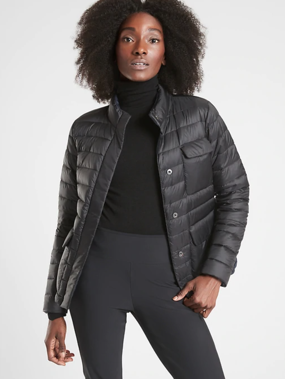 Athleta just discounted dozens of new outerwear and workout tops -- shop those and more during their fall savings event