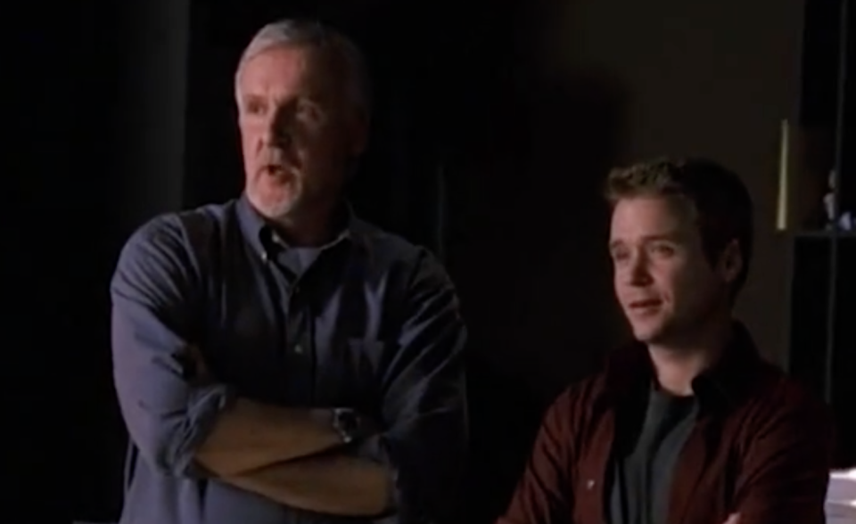James Cameron and Kevin Connolly in a scene from 'Entourage' (Photo: HBO)