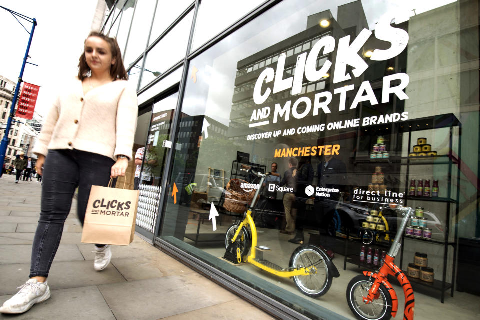Amazon opened its first physical store in Manchester (Anthony Devlin/PA)
