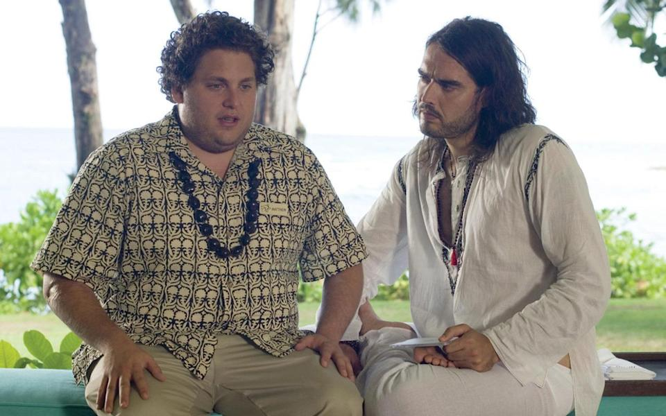 """<p>For the next few years Hill's """"chubbiness"""" was a defining part of his carefree on-screen persona. From playing eccentric waiter Matthew in excellent male-skewed 2008 rom-com 'Forgetting Sarah Marshall'…</p>"""