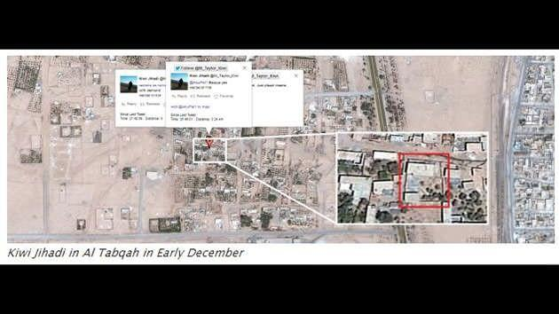 The post says one specific house that Taylor used in December 2014 was identified in numerous tweets that he put out during his time in Al Tabqah. Source: Ibrabo