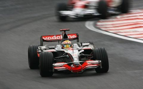 Lewis Hamilton of Great Britain and McLaren Mercedes drives during the Brazilian Formula One Grand Prix at the Interlagos Circuit on November 2, 2008 in Sao Paulo, Brazil - Credit: Getty Images