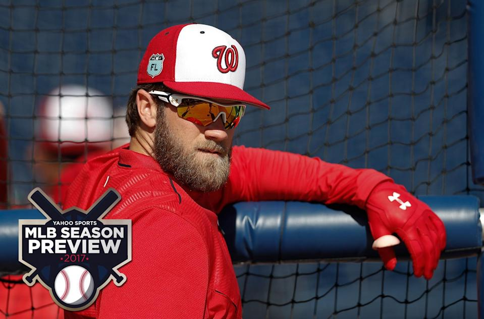 Which Bryce Harper will we see in 2017? The Nats are hoping the 2015 version. (AP)