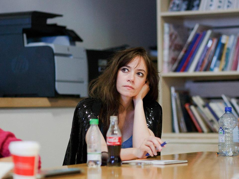 woman thinking think meeting upset quiet thoughtful ponder work worker girl office
