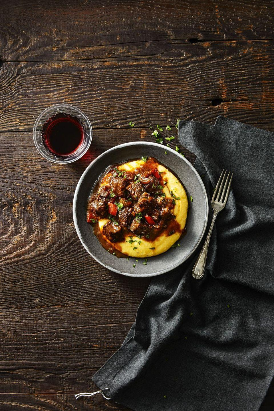 """<p>While it may be spring in New Orleans during Mardi Gras, many parts of the country will still be stuck in winter. Warm up with this cozy, comforting dish.</p><p><em><a href=""""https://www.goodhousekeeping.com/food-recipes/a42354/cajun-beef-grits-recipe/"""" rel=""""nofollow noopener"""" target=""""_blank"""" data-ylk=""""slk:Get the recipe for New Orleans Cajun Beef and Grits »"""" class=""""link rapid-noclick-resp"""">Get the recipe for New Orleans Cajun Beef and Grits »</a></em></p><p><strong>RELATED: </strong><a href=""""https://www.goodhousekeeping.com/food-recipes/healthy/g978/comfort-food/"""" rel=""""nofollow noopener"""" target=""""_blank"""" data-ylk=""""slk:75 Comfort Food Dishes That Are Perfect for Any Time of Year"""" class=""""link rapid-noclick-resp"""">75 Comfort Food Dishes That Are Perfect for Any Time of Year</a><br></p>"""